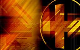 symbole rouge en travers illustration de vecteur