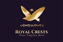 Symbole royal d'Eagle Kings de vecteur de logo Photos stock