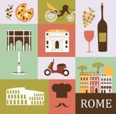 Symbole Rzym royalty ilustracja