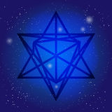 Symbole sacré 3d de la géométrie dans l'espace Thèmes d'alchimie, de religion, de philosophie, d'astrologie et de spiritualité Si illustration de vecteur