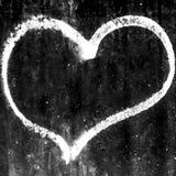Symbole sale de coeur Images stock