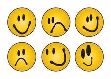sechs verschiedene Gesichter - Vektor lizenzfreies stockfoto