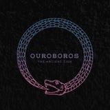 Symbole, signe ou a abstrait de serpent d'Ouroboros de vecteur illustration libre de droits