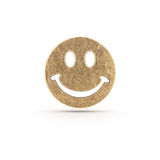 Symbole souriant en bronze Photos stock