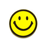 Symbole souriant jaune Photos stock