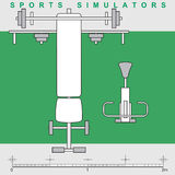 Symbole: sports Simulatoren Lizenzfreies Stockbild