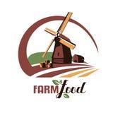Symbole stylisé de vecteur de moulin à vent Photos stock