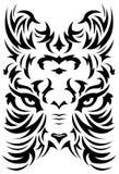 Symbole stylisé de visage de tigre - tatouage - vecteur Image libre de droits