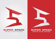 Symbole superbe d'icône de vitesse de S d'une lettre S d'alphabet Photographie stock
