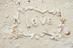 Symbole sur la plage photo libre de droits