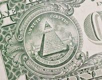 Symbole sur un dollar Images libres de droits