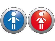 Symbole sur un fond bleu et rouge. Illustration Stock