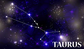 Symbole Taurus Zodiac Sign Illustration de vecteur Photo stock