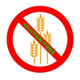 Symbole : Texte Gluten-Libre de GF Images stock
