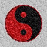 Symbole texturisé de Yin Yang Photos libres de droits