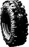 Symbole tous terrains de pneu noir Image libre de droits