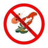 Symbole : Tout le texte Mollusques et crustacés-Libre Image libre de droits