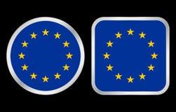 symbole unii europejskiej bandery Zdjęcia Royalty Free