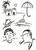 Symbole ustawiają 3 Obraz Royalty Free