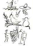 Symbole ustawiają 4 Zdjęcia Stock