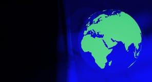 Symbole vert d'écologie de globe Photos libres de droits
