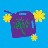 symbole vert d'énergie Images libres de droits