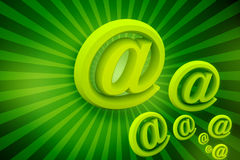 Symbole vert d'affaires Photographie stock libre de droits