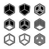 symbole vide isométrique de coin de la pièce 3D Photo libre de droits