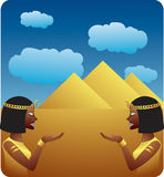 Symbole von Ägypten Stockbild