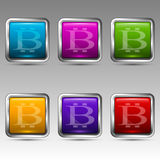 Symbole von bitcoin Lizenzfreie Stockfotos