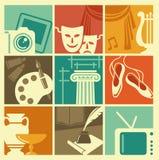 Symbole von Künsten Lizenzfreie Stockfotos