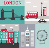 Symbole von London. Stockbild