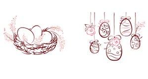 Symbole von Ostern Stockfotografie