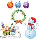 Symbole von Weihnachten Stockfotografie