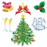 Symbole von Weihnachten Stockbild