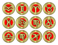 symbole zodiaka podpalili Obraz Stock