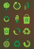symbolen återanvänder seten Arkivbild
