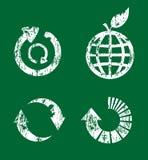 symbolen återanvänder seten Arkivfoto