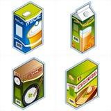 Symbolen 34a. De pictogrammen van de kruidenierswinkel Stock Fotografie