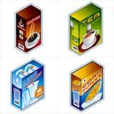 Symbolen 34b. De pictogrammen van de kruidenierswinkel Stock Afbeeldingen