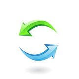 symbolen 3d förnyar Arkivbild