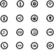 Symbolen applicerar till knappar, vectocillustratör Arkivbild