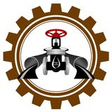 Symbolen av oljeindustrin Royaltyfria Bilder