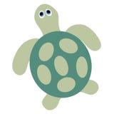 Symbolen behandla som ett barn den gröna sköldpaddan på en vit bakgrund Vektor Illustratio Royaltyfri Foto