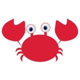 Symbolen behandla som ett barn röd rolig cancer eller krabban på en vit bakgrund vektor Royaltyfria Foton