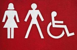 Symbolen bij de bouw met sanitair royalty-vrije stock foto