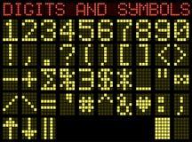 Symbolen en cijfers. Matrijs. Royalty-vrije Stock Foto's