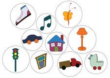 Symbolen en voorwerpen stock illustratie