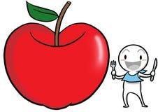 symbolen för äppleguguhälsa föreställer till Royaltyfri Foto