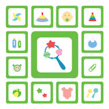 Symbolen för behandla som ett barn Fotografering för Bildbyråer